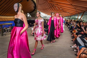 Carla Zampatti's Spring/Summer 2015 collection showcase at the Sydney Opera House. April 8, 2015.