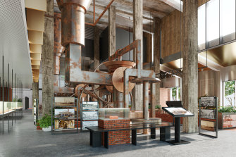 Plans for the Hoffman Museum, to feature six of the brick pressing machines.