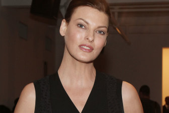 Linda Evangelista attends the Timo Weiland Women's MADE Fashion Week at Milk Studios in New York City, 2013.