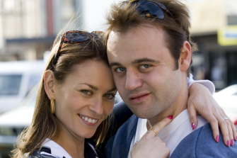 Kat Stewart and Gyton Grantley as Roberta and Carl  Williams in the original Underbelly in 2008.