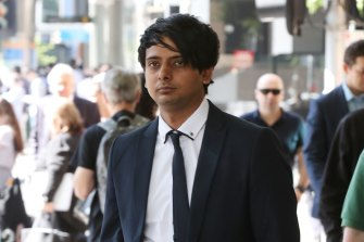 Truck driver Samandeep Singh arrives at Melbourne Magistrates Court before an earlier heearing.