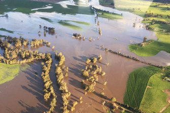 Aerial surveillance of flood waters over Forbes and Parkes over the last 36 hours.