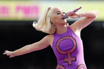 Katy Perry recently performed in Australia.