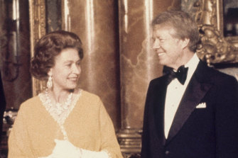 The Queen with president Jimmy Carter in 1977 at Buckingham Palace.