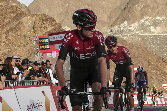 Chris Froome made his comeback from career threatening injury at the UAE Tour in February.