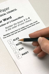 Under the proposal, voters will have to number every box on their ballot paper.