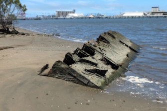 The remains of the SS Koopa, a steamer once touted as The Queen of Moreton Bay.