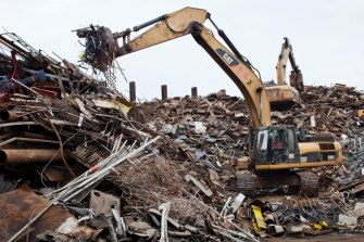 ASX-listed Sims Metal has warned escalating trade wars have hit the global demand for scrap metal.