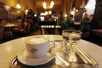 Vienna is known for its coffee.