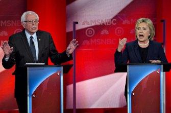 Bernie Sanders and Hillary Clinton seek to woo Democrat primary voters in New Hampshire in 2016.