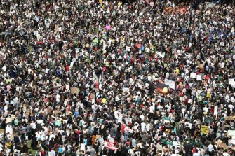 The Global Climate Strike on Friday attracted some of the biggest crowds since protests against the Iraq war.