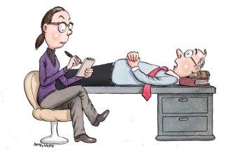 Work therapy. Illustration: John Shakespeare
