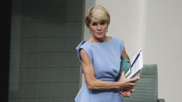 Julie Bishop in Question Time on Tuesday, not much sleeve on offer, either.