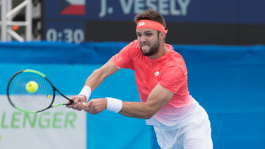 Vesely has beaten world No.1 Novak Djokovicand made the semi-finals at the Canberra Challenger on Thursday.