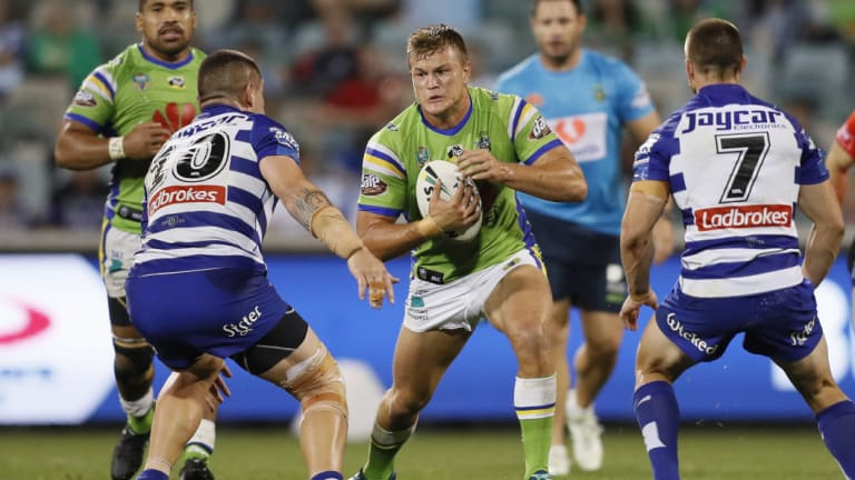 The Raiders have denied young prop Liam Knight is headed to the South Sydney Rabbitohs.