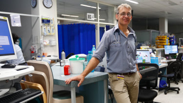 Dr Mike Lindley-Jones, the president of medical staff council.