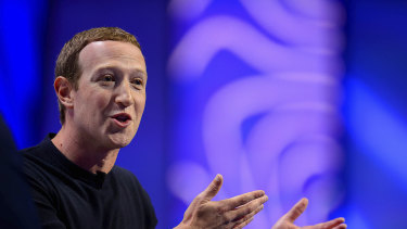 """""""This election is not going to be business as usual"""": Facebook chief Mark Zuckerberg."""