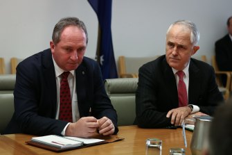 Former prime minister Malcolm Turnbull introduced a 'bonk ban' for ministers in 2018 after it was revealed his deputy Barnaby Joyce had been in a relationship with a staffer.