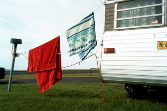 Many holidaymakers are swapping bookings for caravan parks online.