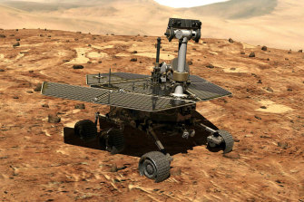 The Mars rover Opportunity.