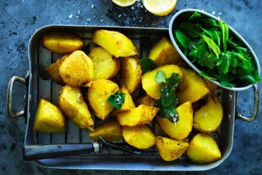 Dan Lepard's Lebanese-style baked potatoes.