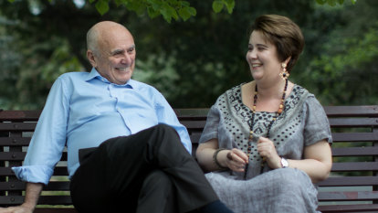 Allan Fels and his eldest daughter Isabella who was diagnosed with schizophrenia in her 20s
