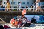 Bondi Beach crowds during lockdown, Sydney. 12th Sept 2021. Photo: Edwina Pickles / SMH