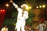 Bunny Wailer performs at the One Love concert to celebrate Bob Marley's 60th birthday, in Kingston, Jamaica.