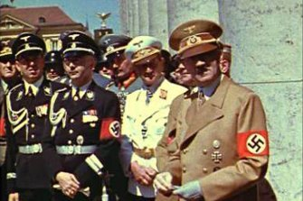 Adolf Hitler and other top Nazis in Munich in the summer of 1939 – just months before the attempt on the Fuehrer's life.