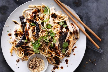 hicken and Udon Noodle salad with Chilli and Sichuan Pepper.