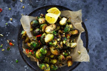 Salt and pepper brussels sprouts.