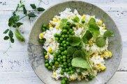 Corn and green pea rice.