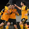 Wolves beat Palace 2-0, climb to third in Premier League
