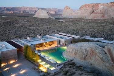 Aerial shot Life and leisure,?for Amangiri story by Barry Stone.