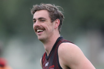 Joe Daniher is on the comeback from injury and could be fit to play as soon as football returns.