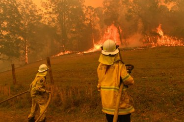 The Hillville bushfire, one of dozens in the region, destroyed many homes over the week.