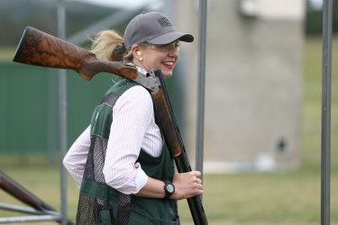 Nationals senator Bridget McKenzie at the Canberra International Clay Target Club in October 2015.