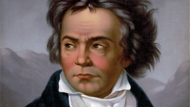 A vintage portrait of Ludwig Van Beethoven.