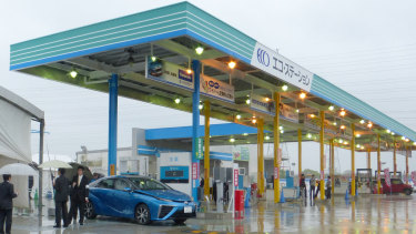 A hydrogen station for fuel-cell vehicles in Japan. The country is prioritising the development of a hydrogen-based economy.