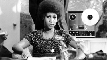 Aretha Franklin, pictured in 1973, made her own musical choices.