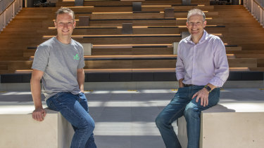 Chairman of x15 ventures Ben Heap (right), and managing director Toby Norton-Smith.