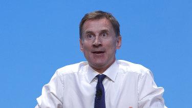 Former foreign secretary Jeremy Hunt.