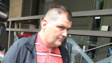 Michael Rogers leaving the Melbourne Magistrates Court on Tuesday after his bail was extended.