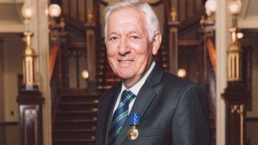 Ken Shadie after receiving his Order of Australia medal.