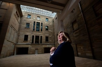 Director Kim McKay, in the new Grand Hall, in the newly renovated Australian Museum.