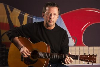 Eric Clapton, pictured in 2003, has been a vocal opponent of lockdown restrictions since the start of the pandemic.