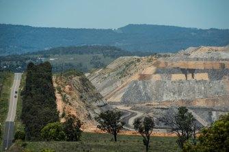 The massive Mt Arthur mine where Simon Turner worked.