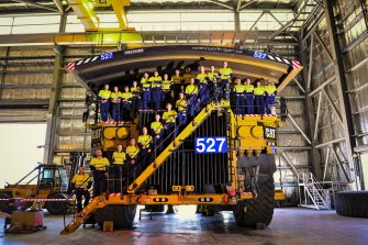 Glencore miners at one of the firm's Upper Hunter mines.