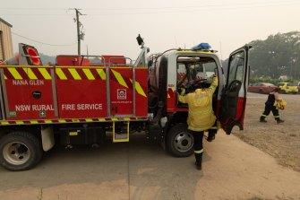 Nana Glen Rural Fire Service crews head out during the week.