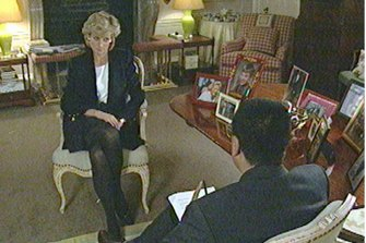 Princess Diana during her hour-long chat with Martin Bashir on Panorama
